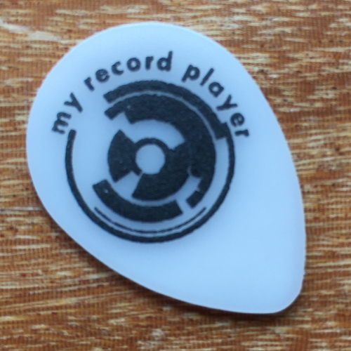 guitar pick my record player